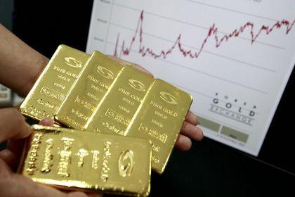 Altın 8 ayın en düşüğü üzerinde tutundu - Altın, Fed'in bugün sona erecek toplantısı öncesi sekiz ayın en düşük seviyesi üzerinde tutundu (09:20'de güncellendi)