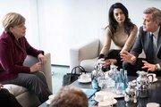 George Clooney Merkel'le sığınmacı krizini görüştü