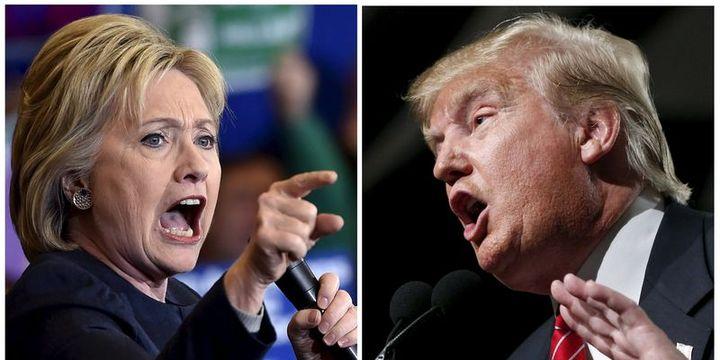 Clinton ve Trump rakiplerine karşı avantaj elde etti