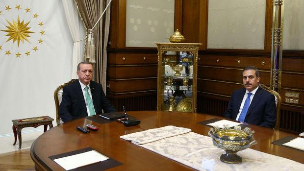 Erdoğan ile MİT Müsteşarı Hakan Fidan'ın görüşmesi sona erdi