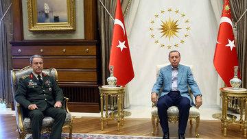 Cumhurbaşkanı Erdoğan Genelkurmay Başkanı Akar'ı kabul etti