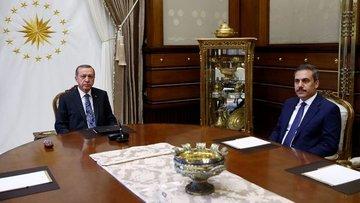 Cumhurbaşkanı Erdoğan Hakan Fidan'la görüştü