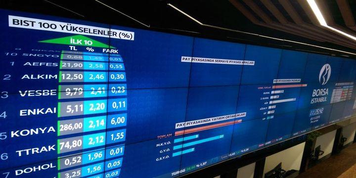 Borsa ilk yarıda % 2,5 düştü