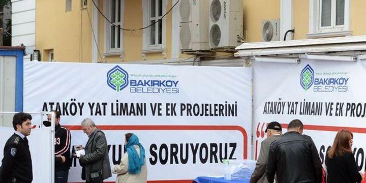 Ataköy Yat Limanı projesi için oylama
