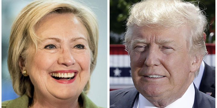 Clinton Bloomberg anketinde 3 puan önde