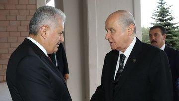 Başbakan Yıldırım Bahçeli ile görüştü