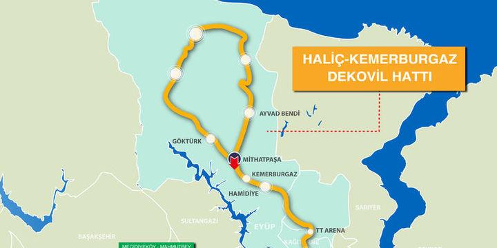 Haliç-Kemerburgaz Dekovil Hattı 13 Ocak