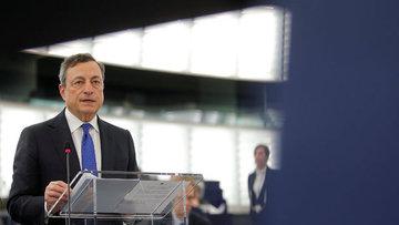 Draghi: Euro Bölgesi küresel belirsizliklere rağmen ılıml...