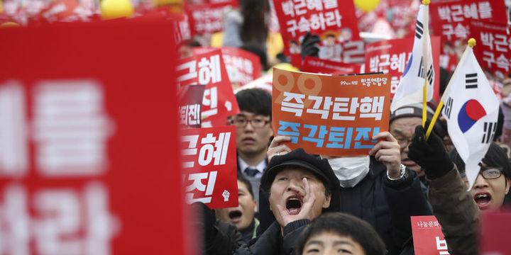 Güney Kore Devlet Başkanı Park Nisan
