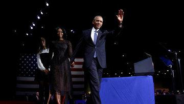 """Obama """"veda"""" konuşması yaptı"""