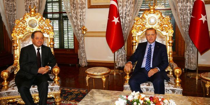 Erdoğan IKBY Başkanı Barzani