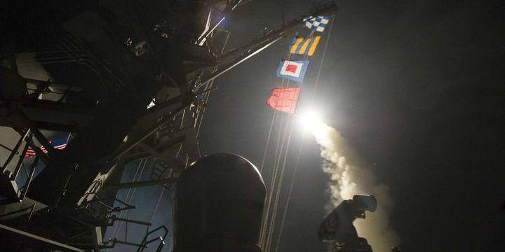 ABD Suriye rejimini 59 Tomahawk füzesiyle vurdu