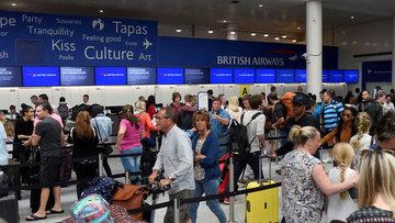 İngiltere'de uçuş krizi