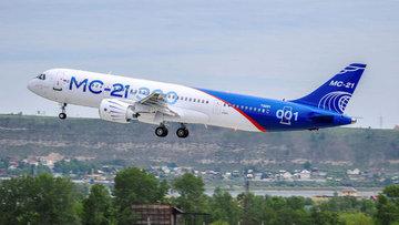Rusya'nın Sovyetler sonrası ilk ticari uçağı deneme uçuşu...