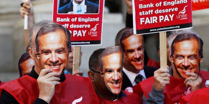İngiltere Merkez Bankası çalışanları üç günlük greve başladı