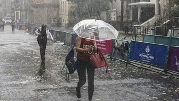 İstanbul'da şiddetli yağış uyarısı