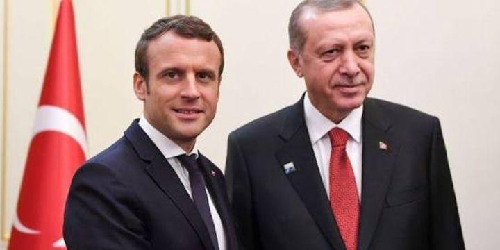 Erdoğan Macron ile Suriye ve Irak