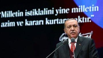 Erdoğan: Misak-ı Milli'mize yeniden sahip çıkmak zorundayız
