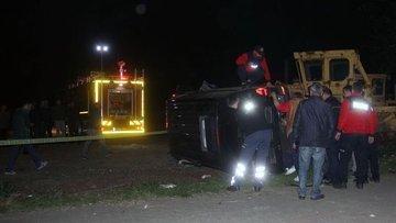Erdoğan'ın koruma ekibini taşıyan minibüs kaza yaptı: 4 y...
