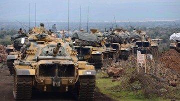 TSK ve ÖSO birlikleri Zeytin Dalı Harekâtı kapsamında Sur...