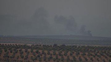 AA: Rejim yanlısı teröristler top ateşiyle geri çekildi