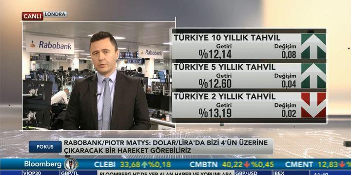 Rabobank/Matys: Dolar/TL