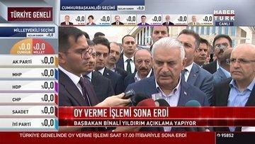 Başbakan Yıldırım'dan Erzurum'da yaşananlarla ilgili açık...