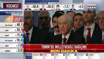 Bahçeli: Milletimiz MHP'yi kilit parti yapmıştır