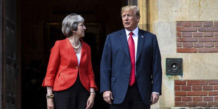 Trump - May: Brexit sonrası bir ticaret anlaşmamız olabilir