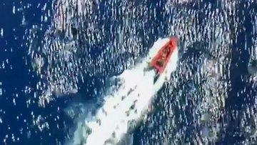 KKTC açıklarında 150 civarında mülteciyi taşıyan teknenin...