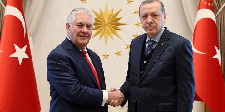 Erdoğan ABD Dışişleri Bakanı Tillerson